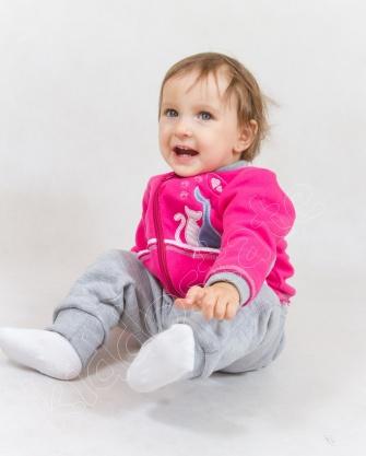 Dres niemowlęcy rożowo-szary