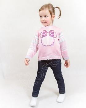 Sweterek dziewczęcy z przędzy