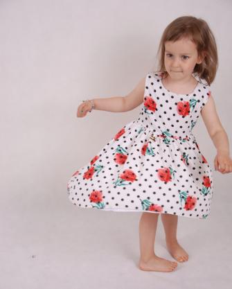 Sukienka dziewczęca ecru