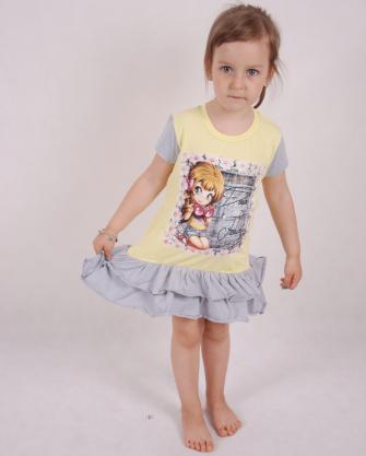 Tunika dziewczęca z falbanką