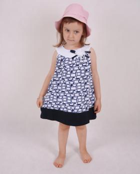 Sukienka dziewczęca z kokardą