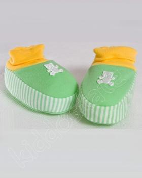 Kapcie dla niemowlaka bawełniane