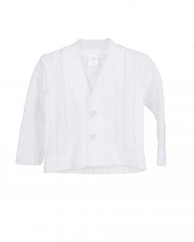 Biały sweterek chłopięcy