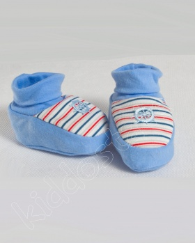 Kapcie niemowlęce, bambosze STER niebieski