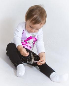 Bluzka dziewczęca z długim rękawem