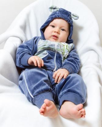 Dres niemowlęcy z lampasem