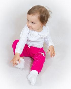Bluzeczka niemowlęca z kołnierzykiem