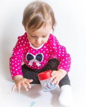 Bluzka niemowlęca w grochy