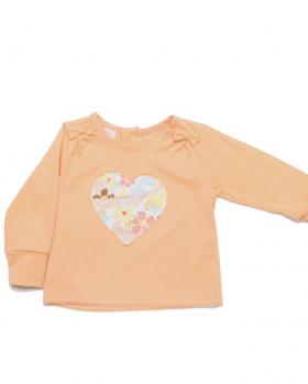 Bluzka niemowlęca z sercem