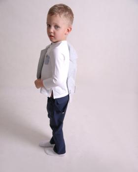Wizytowe spodnie chłopięce
