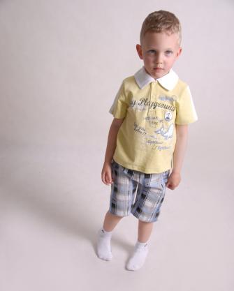 Komplet chłopięcy spodenki i koszulka