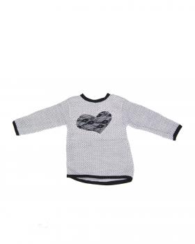 Sweter dziewczęcy z sercem