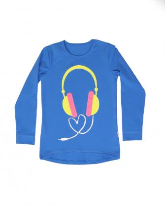 Bluzeczka dziewczęca słuchawki