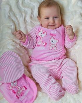 Wyprawka niemowlęca welurowa