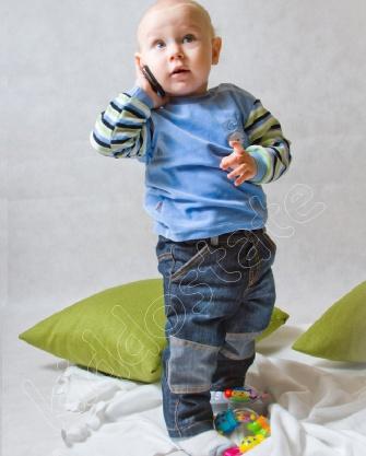 Bluzka niemowlęca WELUROWA