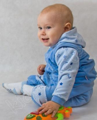 Dresik niemowlęcy welurowy
