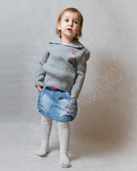 Sweterek dziewczęcy szary