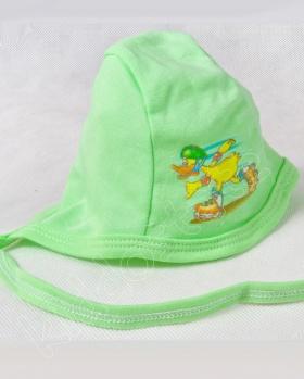 Czapeczka niemowlęca zielona