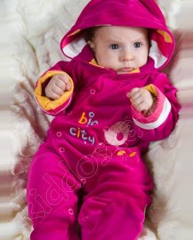 Pajacyk niemowlęcy z kapturem