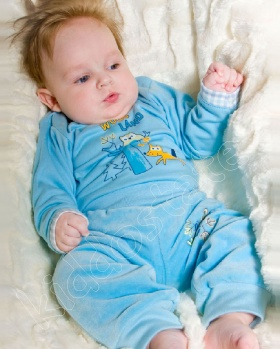 Spodenki niemowlęce welur
