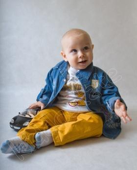 Komplet chłopięcy jeans