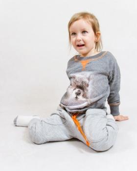 Bluza dziecięca z wiewiórką